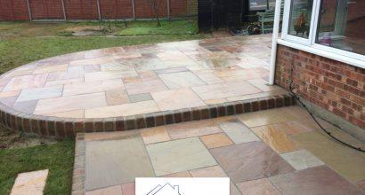 fossil sandstone patio colchester