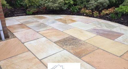 Indian Sandstone Patio in Colchester