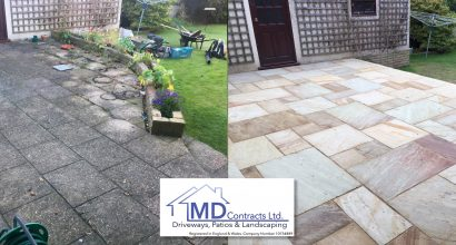 New patio in Sudbury suffolk.
