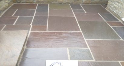 Sandstone patio Essex.