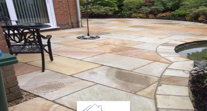 sanstone patio in Stanway, Colchester.