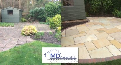 Indian Sandstone patios in Colchester, Essex.