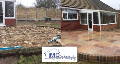 Sandstone Patio in Long Melford Suffolk.