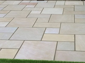 indian sandstone patios in colchester, sudbury and essex