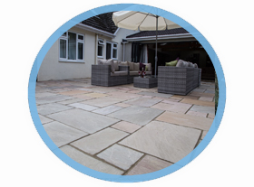 sandstone patio in Colchester and Sudbury.