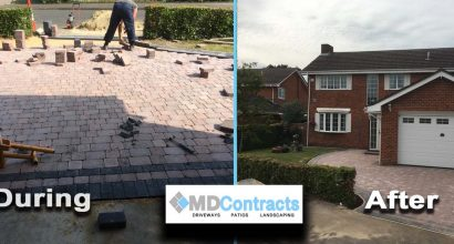 Block paving a driveway in Colchester.