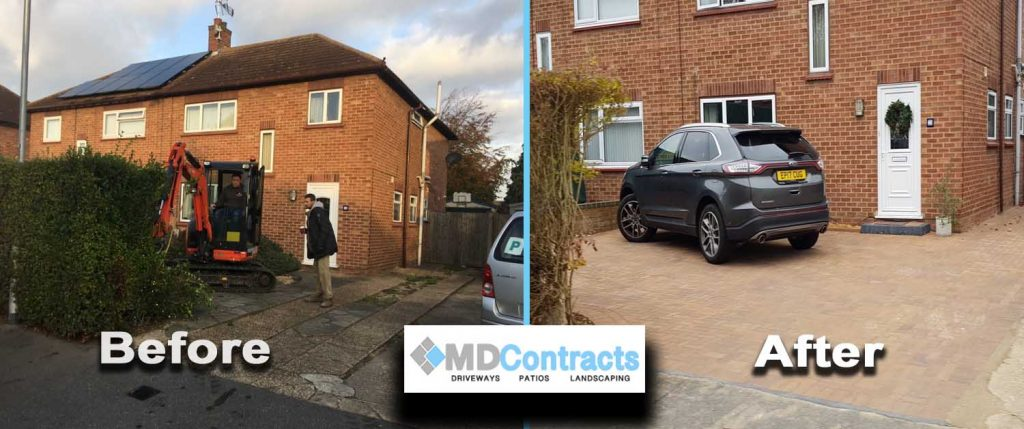 Driveway block paving in Stanway, Colchester.
