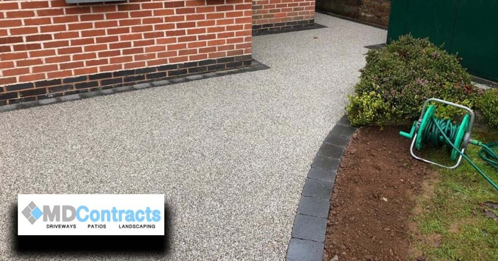 Silver resin bound gravel driveway in Colchester