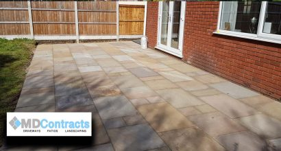 Sandstone Patio in Cornard, Sudbury.