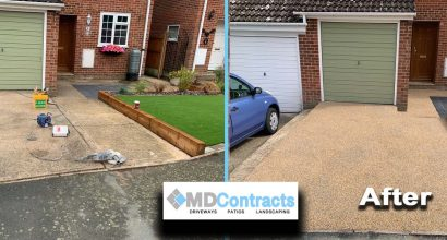 Resin bound gravel driveway in Sudbury, Suffolk.