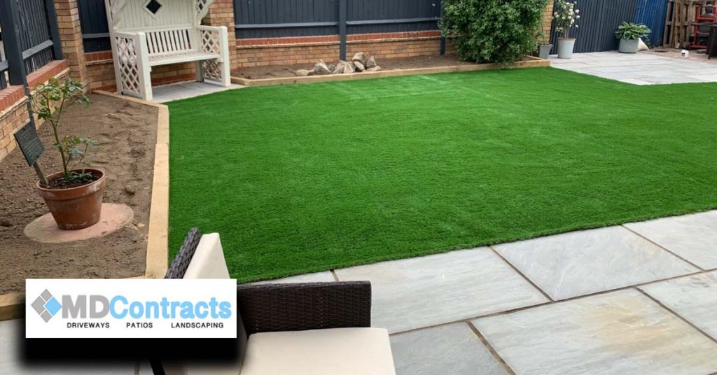 patio, landscaping and artificial turf in braintree.