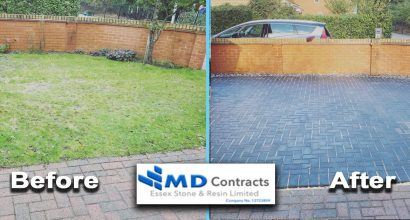 Block paving driveway in Colchester