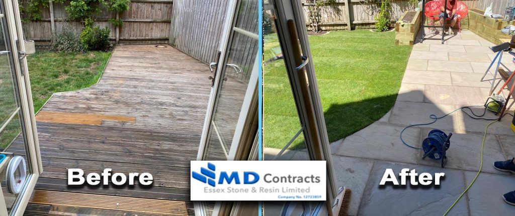 patio and landscaping in Colchester, Essex.