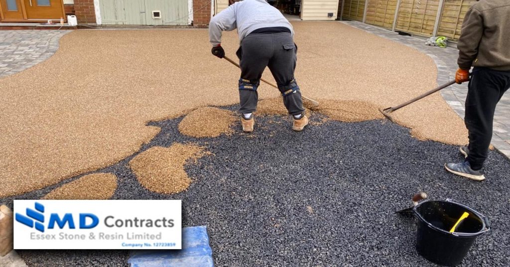 Resin bound gravel driveways.